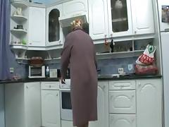 Mommy, Granny, Kitchen, Masturbation, Mature, Mom
