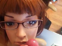 Doll Mannequin Cum Facial 3