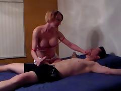 Great femdom blowjob porn tube video
