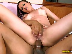 Natany Lanza sucks a BBC and takes it in her pussy and asshole