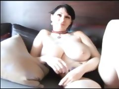 Busty Gothgirl Giving Head