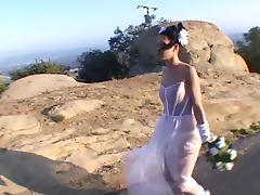 Hot & horny bride in DP action tube porn video