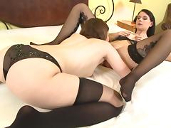 Lesbian porn stars gets erotic licking and fondling cunts in glamour
