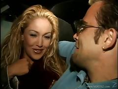 Tattooed porn star with big fake tits enjoying a mind-blowing threesome