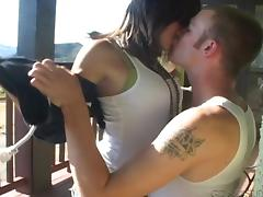 Charming Cowgirl In Jeans Rides Massive Cock Missionary