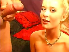 Blond Babe Blowjob and Facial