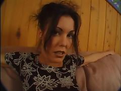 Brunette in colored panties anus fucked