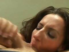 Richelle Ryan drops to her knees and sucks a mean cock in a POV video