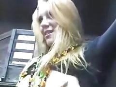 Party beauty drilled in public