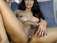 Two in her holes - girl fucks both holes
