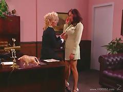 Office, Cunt, Lesbian, Lick, MILF, Office