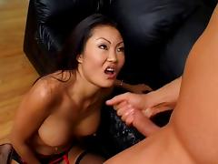 Sluttle little Asian gets her tight pussy and asshole fingered