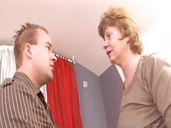 Rousing mature amateur blonde with natural tits getting bonked hardcore missionary style