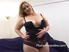 Ambitious blonde with natural tits getting banged hardcore doggystyle in interracial sex