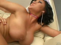 Elegant milf with big nipples gets her shaved pussy drilled hardcore doggystyle