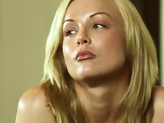 Kayden Kross gets her cunt fucked from behind in the kitchen