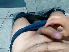 Nice cumshot after work