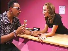 Anal cock sucking ebony babe Camille gets fucked hardcore