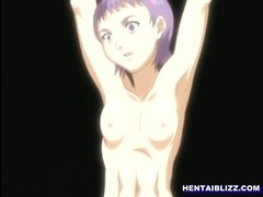 Chained hentai coed gangbanged by soldiers