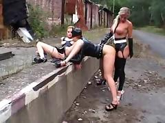 Latex, BDSM, Fetish, German, Latex, Outdoor