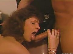 A hung guy has a hot threesome with two horny chciks