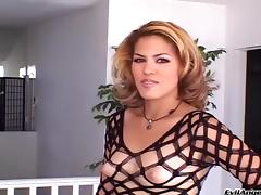 Angelic tattooed pornstar getting nasty face fucking before swallowing cum