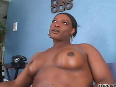 Black Shemale Fondles Tits Before Jerking Off Cock And Squirting tube porn video
