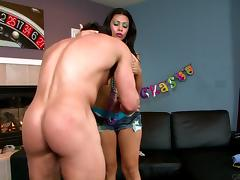 Cassandra Cruz riding Tyler Black's hot cock hardcore doggystyle