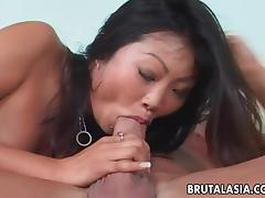 Lucy Lee gets her Asian asshole properly fucked from behind