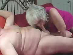 Older couple-he fucks her mouth