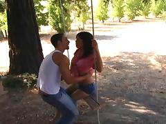 Kelly Summers and Peter Black fuck hardcore in the park