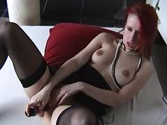 toying her twat