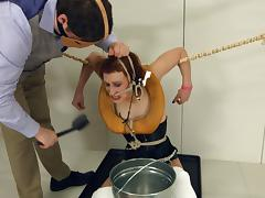 Mistress Margot gets tortured and face-fucked in BDSM clip