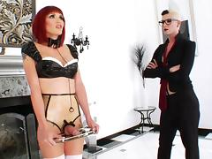 Tranny Babe Fisted By Shemale Sex Master In Latex Fetish porn tube video