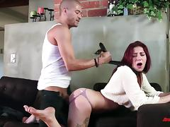 Doting redhead gets her pussy licked then drilled hardcore