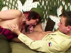 German army uniform Milf get fucked by young boy tube porn video