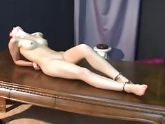 Beautiful slave girl in handcuffs and chains tube porn video