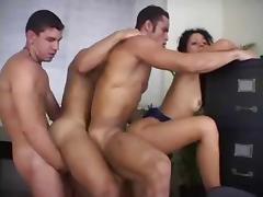 Girl and Three Bisex Guys - Suruba porn tube video