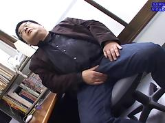 Japanese Daddy Jacking Off porn tube video