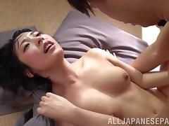 Miku Abeno gets hardcore banged after sucking cock and getting muff licked
