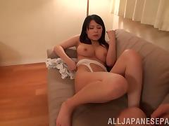 Japanese babe with big tits gets pussy licked and fucked
