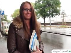Hungarian chick gets fucked by a stranger and rewards her with a messy cum tube porn video