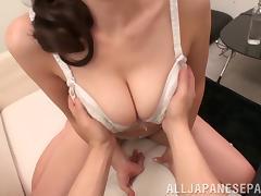 Bra, Asian, Big Tits, Blowjob, Bra, Couple