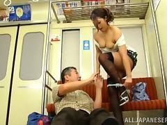 Bus, Asian, Bus, Couple, Fingering, Japanese