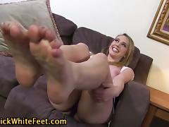 Big tit slut foot worship