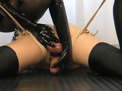 Tied down andto cum