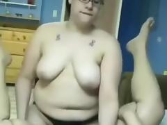 Strapon, Amateur, BBW, Chubby, Chunky, Fat