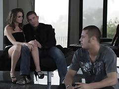 In her knee high boots, Dani Jensen looked great on top of a cock tube porn video