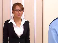 Helpful Japanese slut Jessica Kizaki gives a secret blowjob to a dude