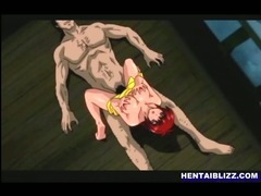 Busty Japanese hentai gets licked wetpussy and deep fucked bigcock porn tube video